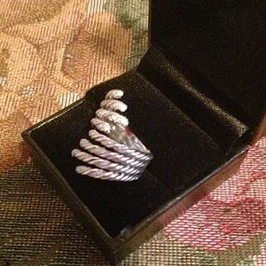 David Yurman Jewelry - David Yurman diamond Willow 4 row ring 6-7